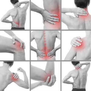 a collage of back and limb joint pain